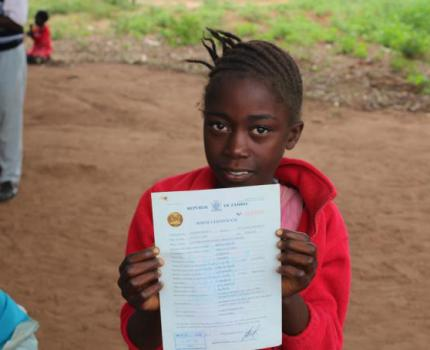 Children in Eastern Province Receive Birth Certificates.
